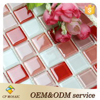 High quality glass mosaic wall decoration modern bathroom mosaic beautiful mosaic tile backsplash in China