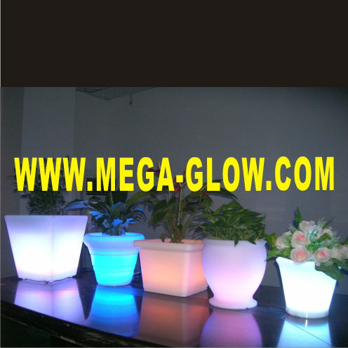 LED ILLUMINATED POT/FLOWER POT/LED VASE WITH LIGHT