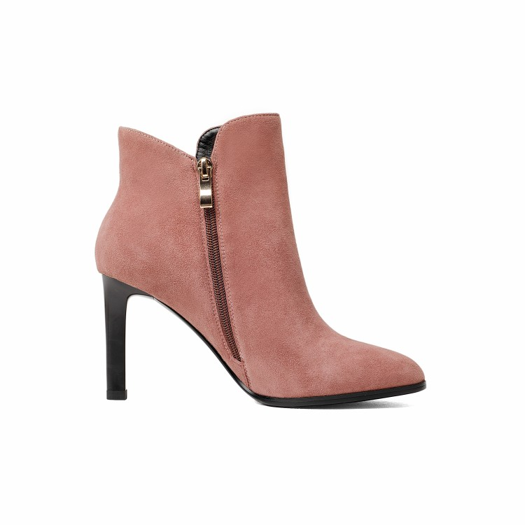 women boots eyelets pink tassel boots ankle leather SARA024 YAqCwxpW0A