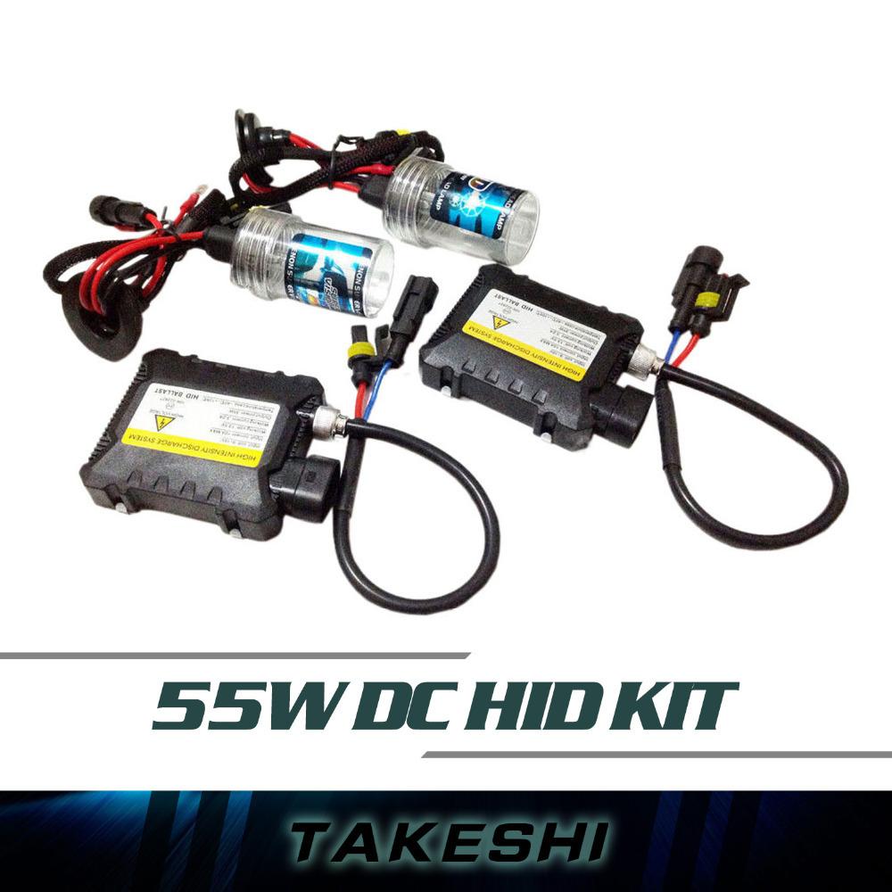 Бесплатная доставка 55 Вт DC HID ксенона фар автомобиля авто лампы тонкий балласт H1 H3 H7 H8 H9 H10 H11 9005 9006 все цвета 3000 К ~ 30000 К