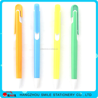 Promotional heart shape plastic ballpoint pens with feather
