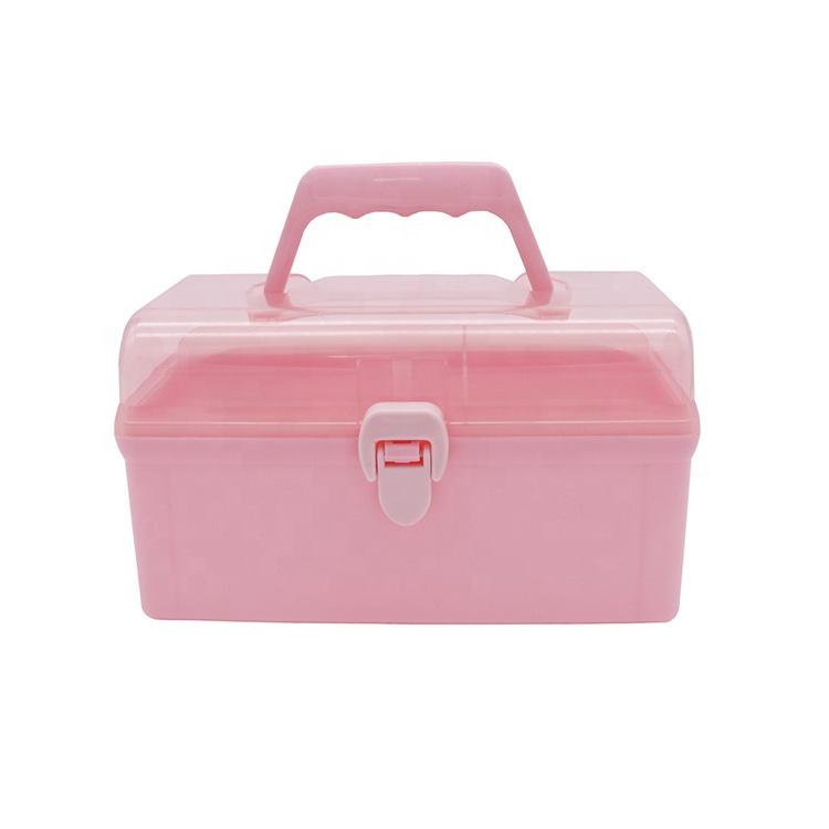 Usine vente directe boîte de rangement polyvalente, multicouche en plastique articles ménagers petite boîte de rangement avec poignée