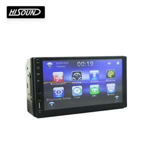 2din 7inch gps navigation wince car radio mp5 player with usb sd