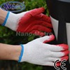 NMSAFETY cotton knitted gloves latex working gloves red latex coated work gloves