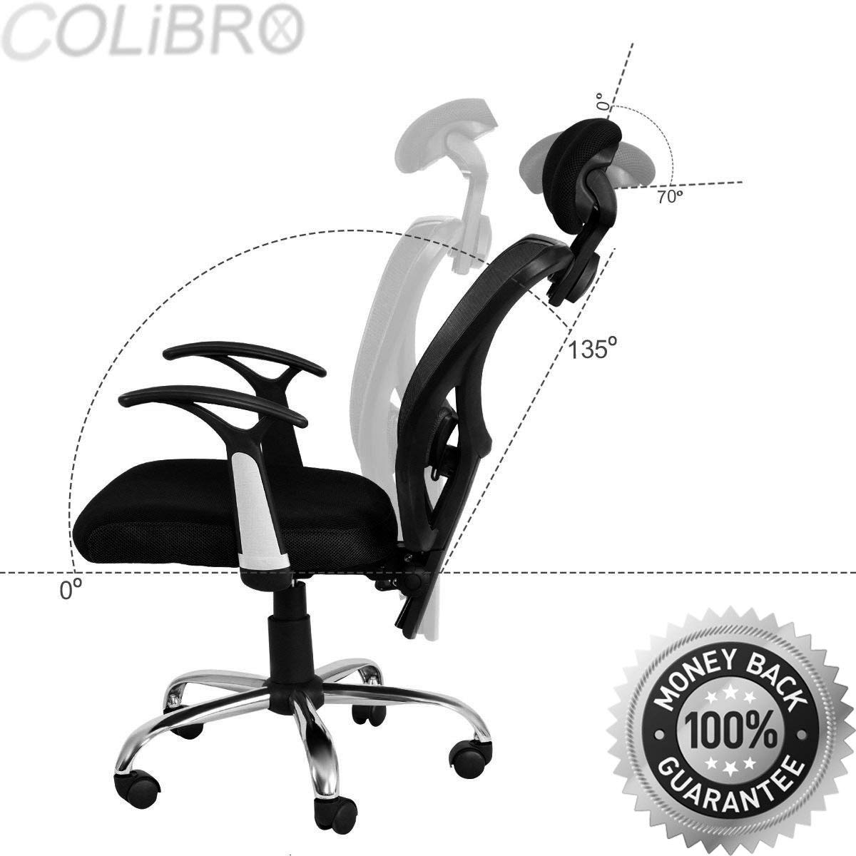 COLIBROX--Ergonomic Mesh High Back Office Chair Computer Desk Task Executive with Headrest. modern ergonomic mesh high back executive computer desk task office chair black. ergonomic mesh high back.