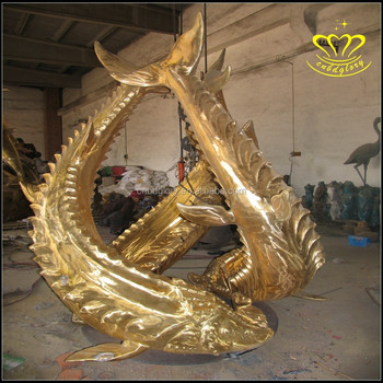 Outdoor Statues Type And Animal Statue Large Fish Sculpture