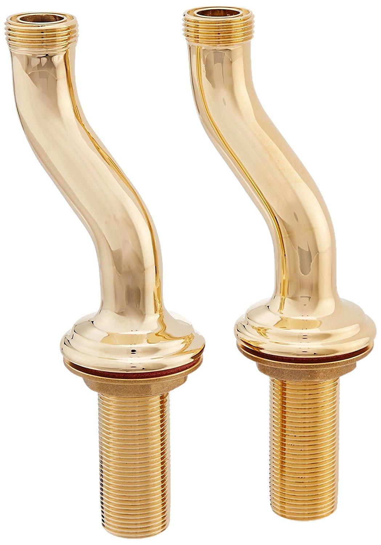 Rohl U.6387IB U.6387 Perrin And Rowe Deck Pillar Unions, Inca Brass