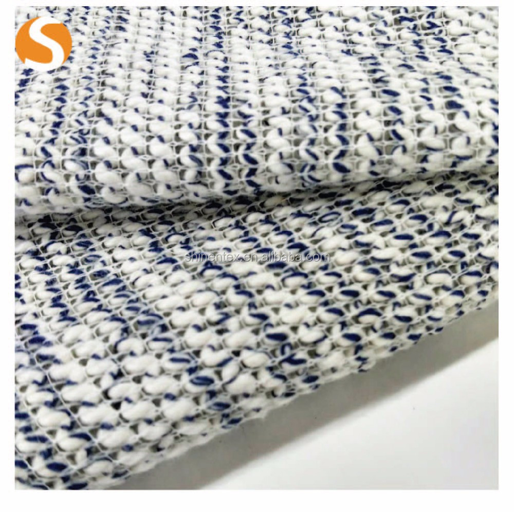 China Textile Fashion Stripe Hacci Novelty Knit Fabric For Sweater ...