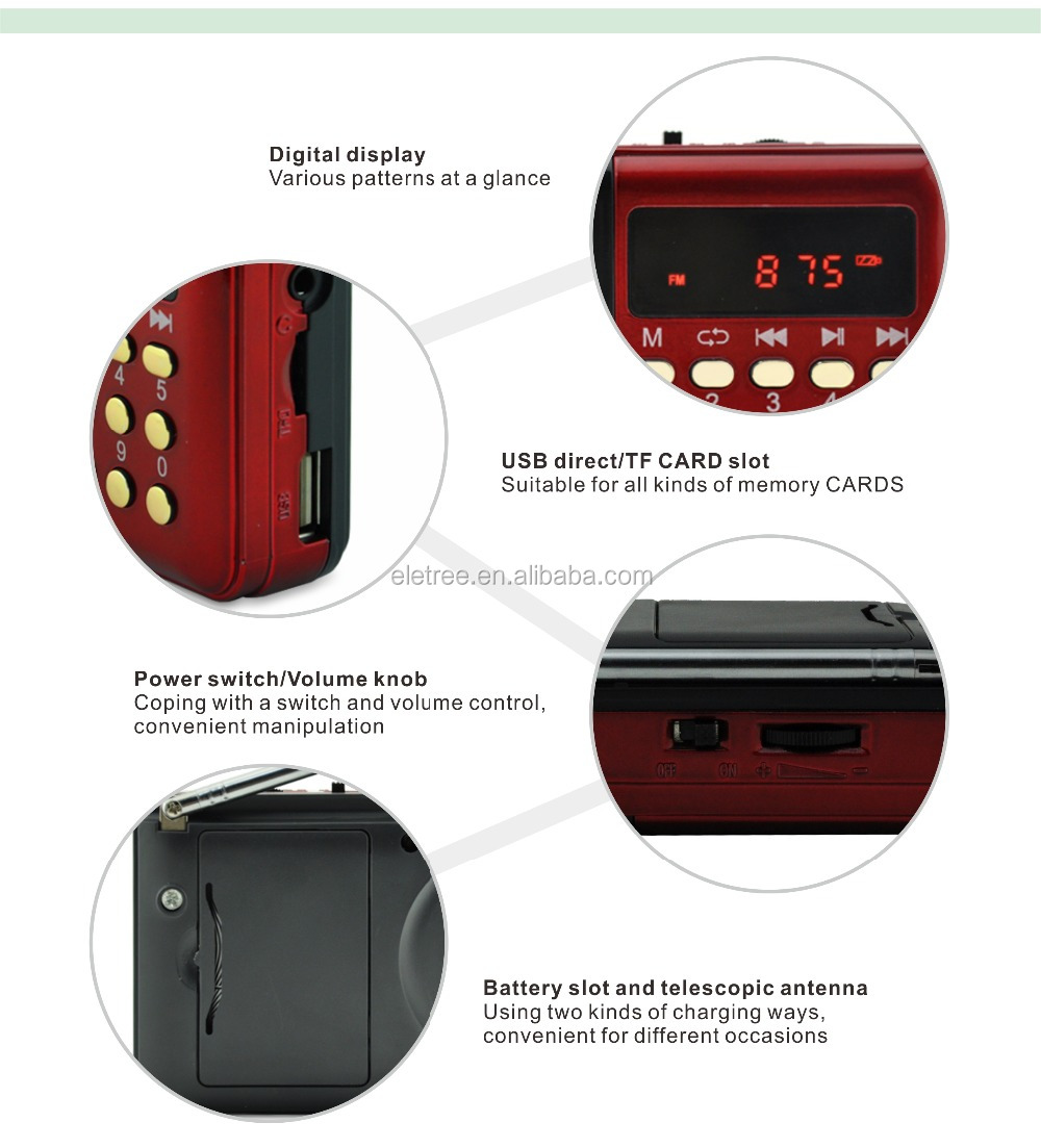 El-h010u 2015 China New Fm Joc Radio With Built-in Rechargeable ...