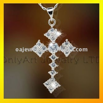 top quality elegant sterling 925 silver cross pendant paypal acceptable