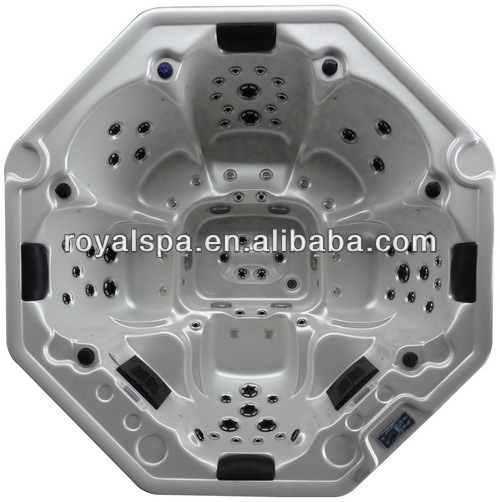 8 Persons acrylic octagonal outdoor spa hot Tub