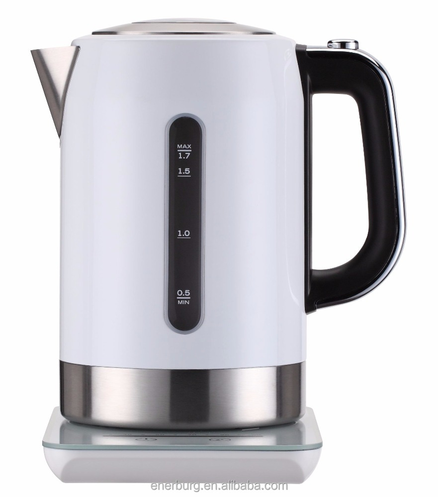 Touch control Luxury design Cordless Stainless Steel Electric tea Kettle with STRIX control