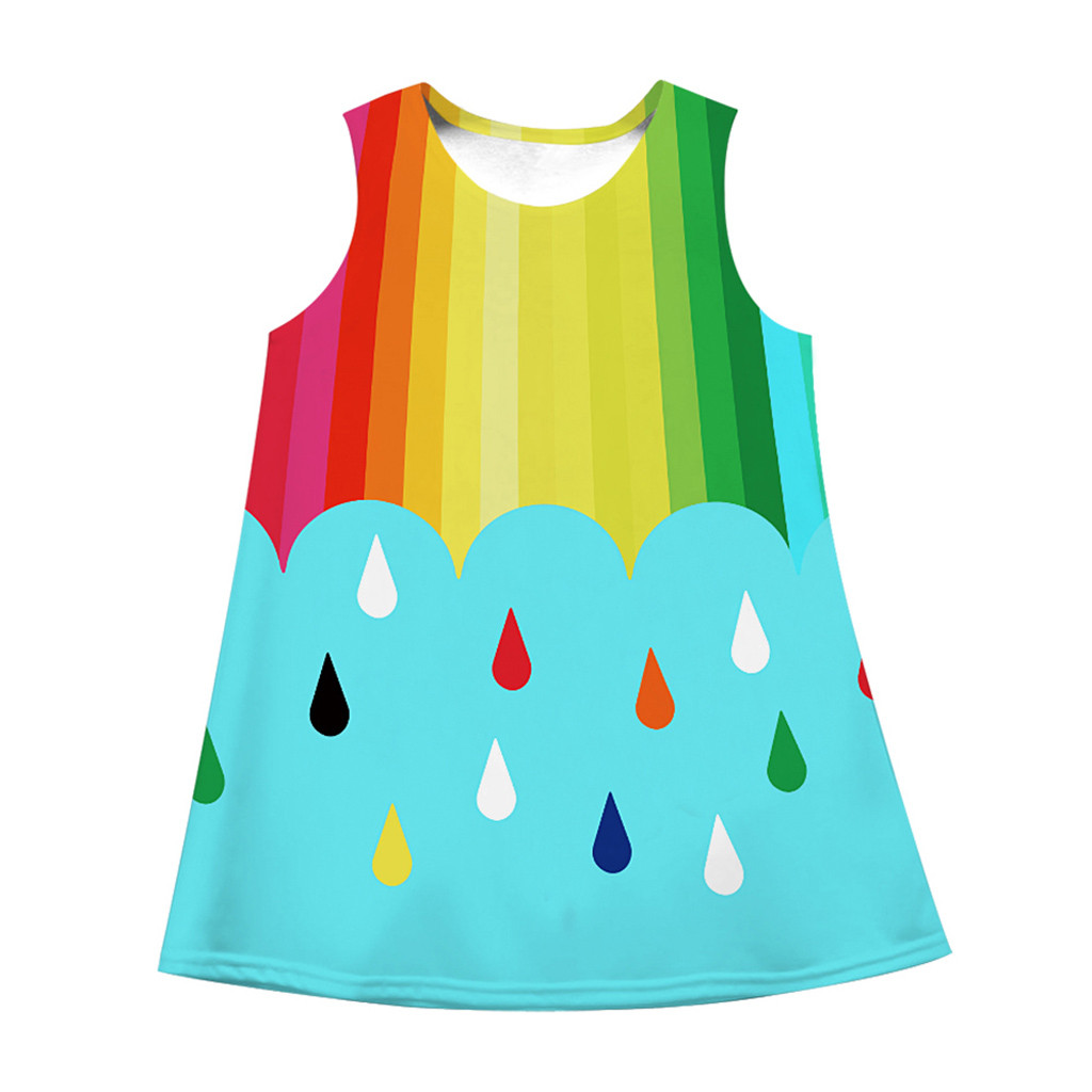 Dresses Muqgew 2019 Teen Toddler Kid Girl Summer Sleeveless 3d Print Cartoon Dresses Casual Clothes New Arrival Fashionable And Attractive Packages Mother & Kids