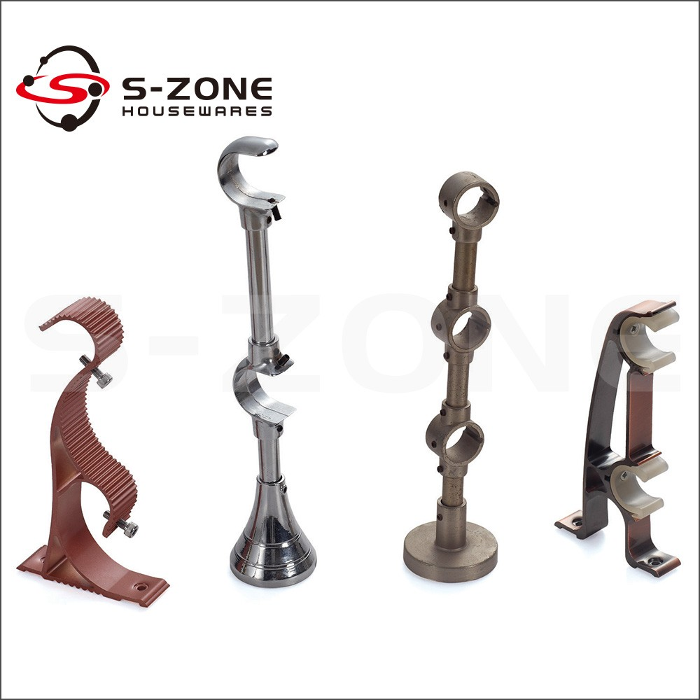 Connecting decorative pipe wall mount iron rod curtain bracket ... for Fancy Curtain Brackets  45hul