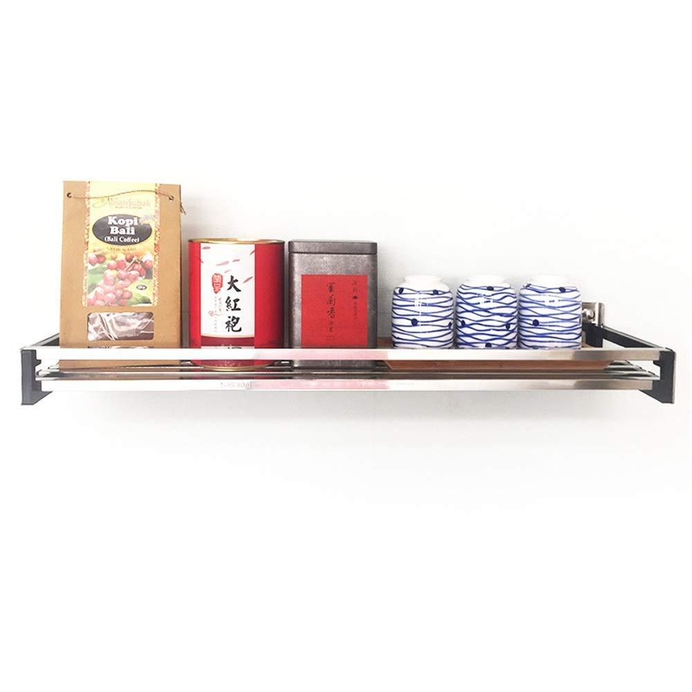 YChoice Rack Decor 304 Stainless Steel Kitchen Rack Wall Hanging Seasoning Seasoning Household Items Storage Shelf (Size : 110)