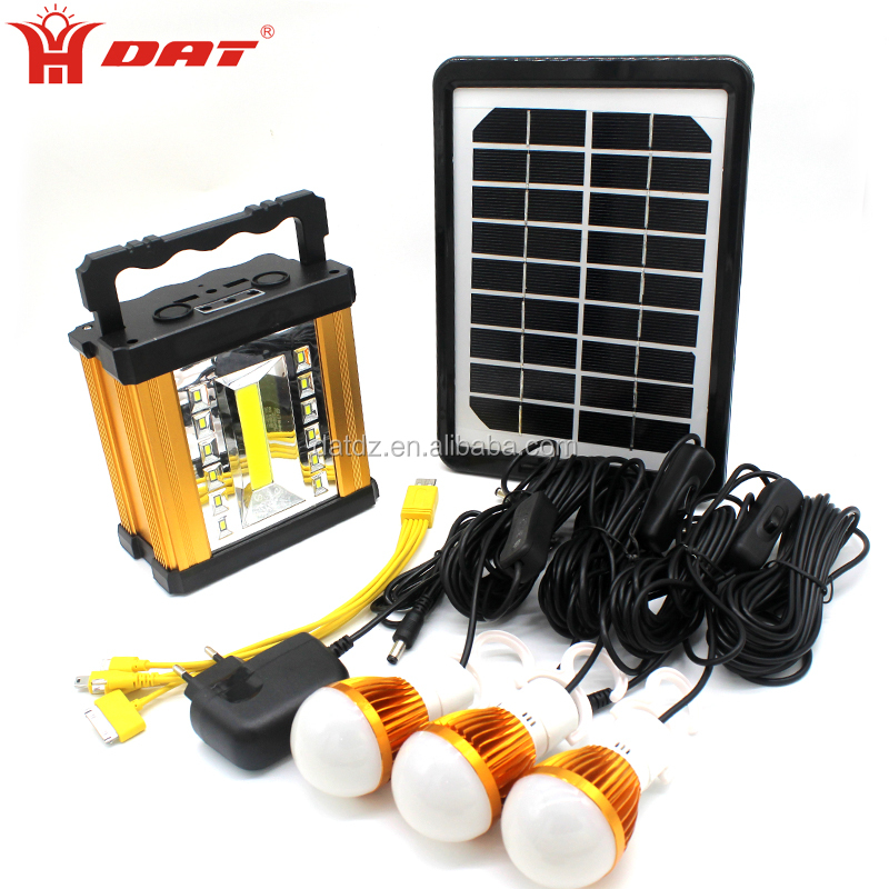 Supply Home aluminum Smart solar lighting system with mobile and lamps