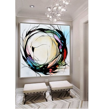 hand painted extra large abstract painting on canvas large black and