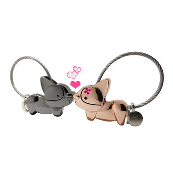 cute animal dog keychain chinese couple keychain love