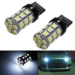 iJDMTOY (2) 360° 30-SMD-2835 7440 7441 7443 7444 T20 LED Bulbs For Turn Signal Lights, Daytime Running Lights, Reverse Lights, Xenon White