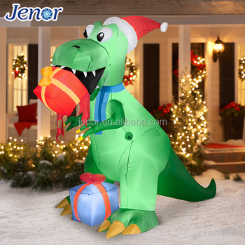 jenor green giant advertising inflatable dragon for christmas yard decoration