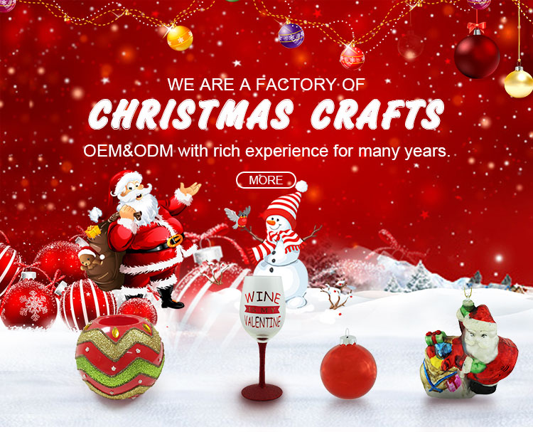 Wholesale shining glass crafts christmas tree decorations
