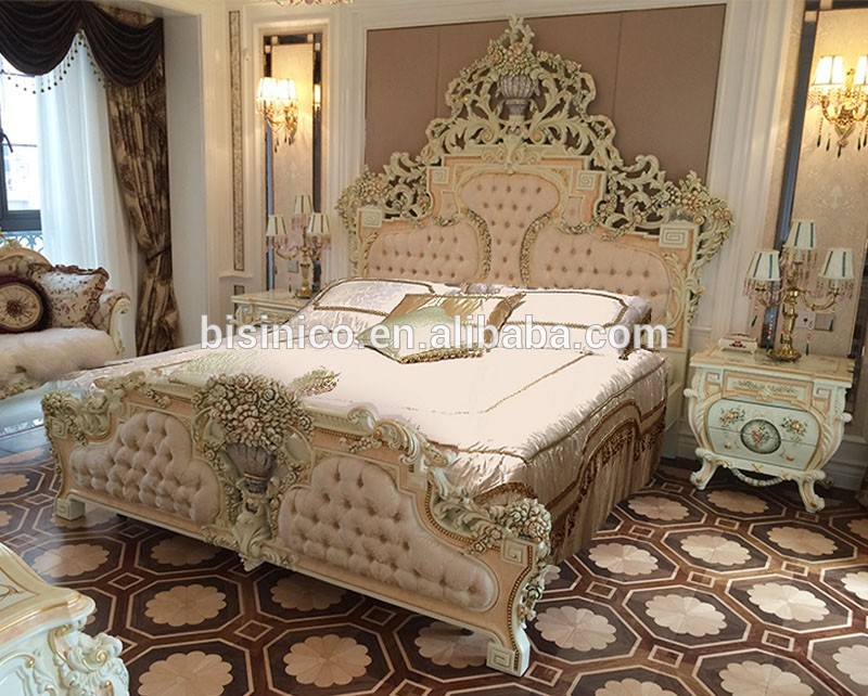 Luxury Italian Double Bed Royal French Design King Bed