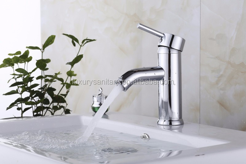 competitive price faucet hot and cold water brass faucet chrome bathroom wash basin mixer vessel sink mixer tap