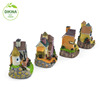 DIY Ornament/Mini Houses *** Charming Miniature Christmas Village House Pattern *** Black glass Christmas village houses