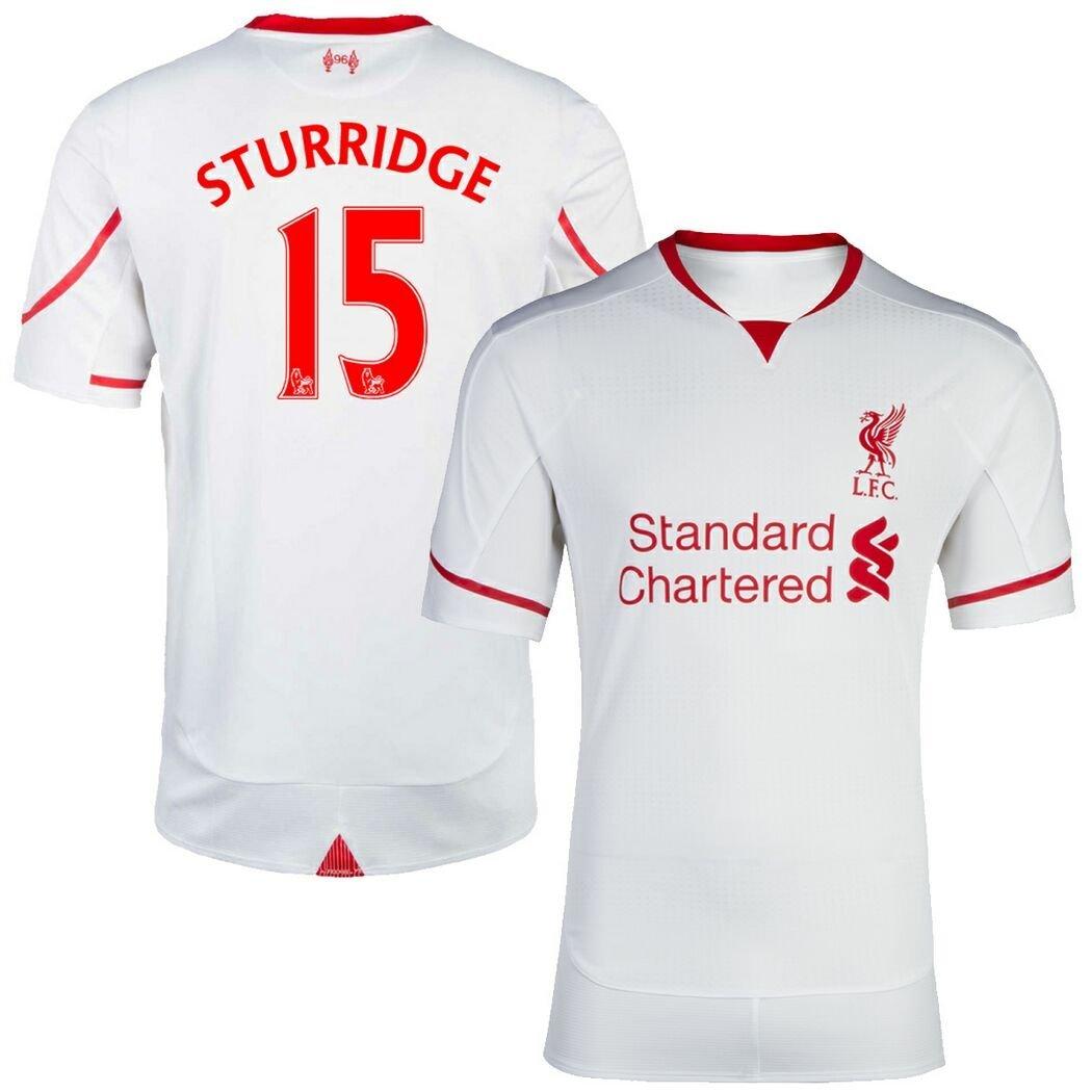 get quotations  fc football jersey mens liverpool 15 sturridge away soccer jersey white