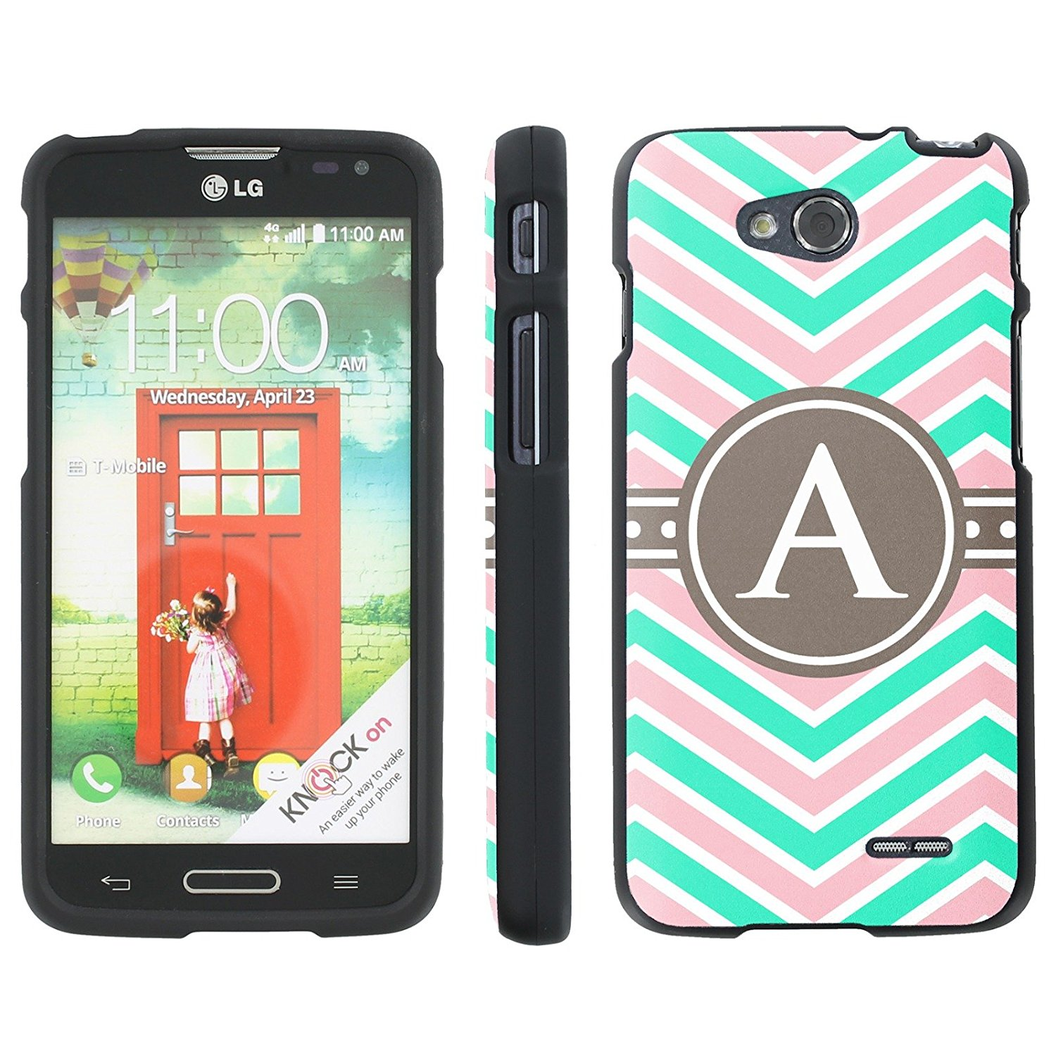 Mobiflare Slim Guard Armor Design Case for [LG Optimus L90 D415] - Chevron Monogram A