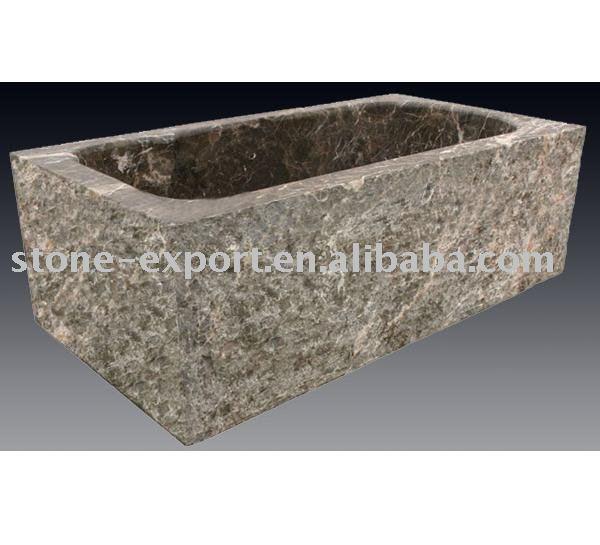Ba eras de piedra natural marmol emperador tinas duchas y - Baneras de piedra ...