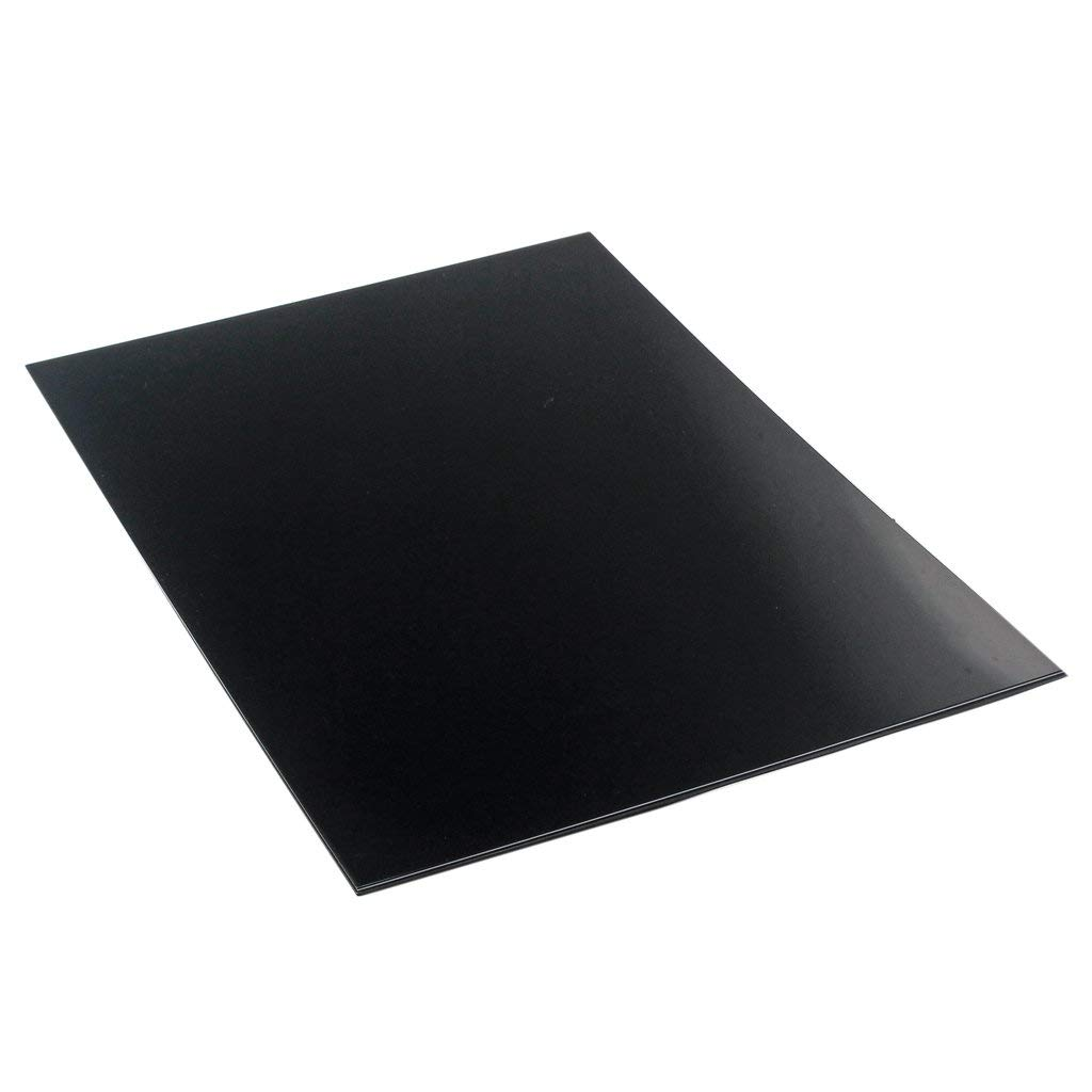 non-brand MagiDeal Durable PVC 3 Ply Guitar Pickguard Blank Material Scratch Plate Sheet Guitar Head Veneer - Black