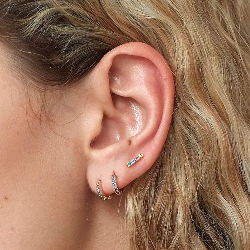 18K Or Rose sur Argent 925 Torsadé spirale Dangle Earrings