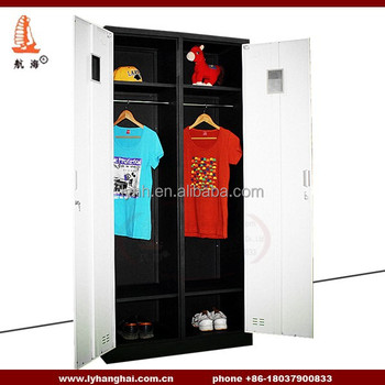 Sonoma 2 Door Armoire Wardrobe Clothing Storage Personal Effects White  Powder 2 Door Black Metal Gym