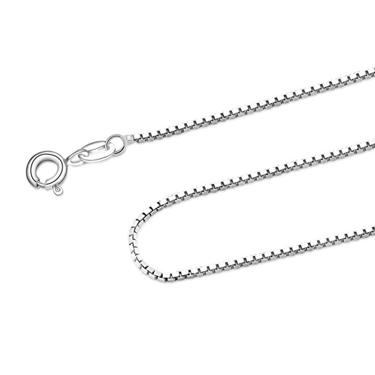 S925 Pure Sterling Silver 22 Inch Italy Box Chain