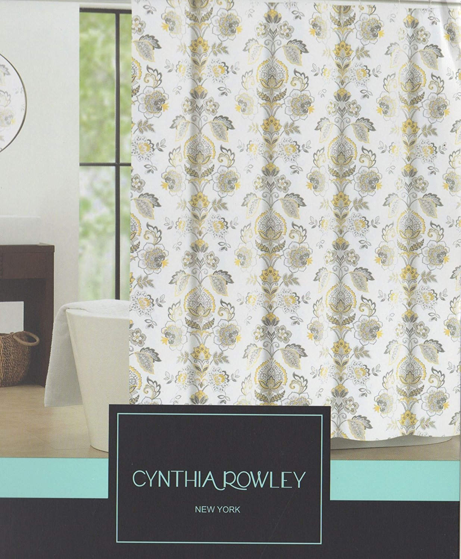 Cynthia Rowley Galina Fabric Shower Curtain 72 Inch By 72 Inch Floral Shower  Curtain