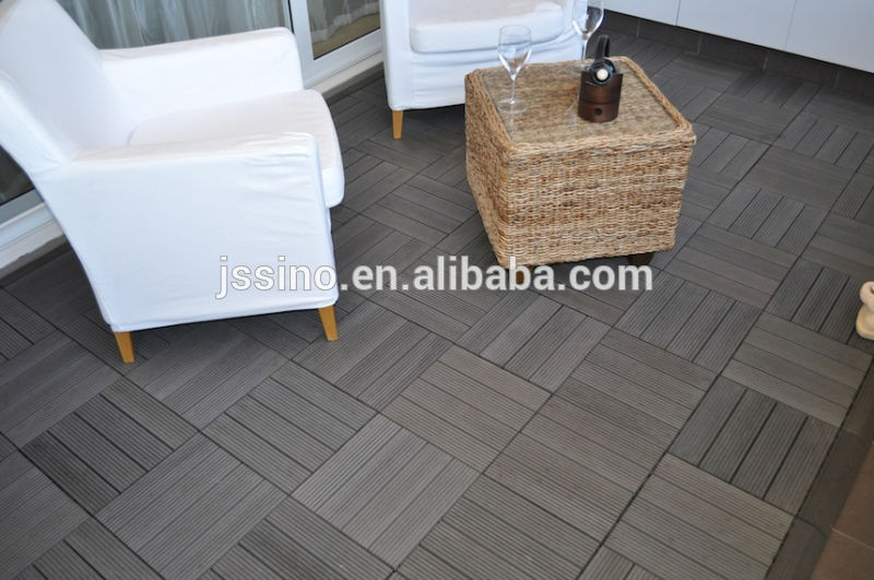 Wood Plastic Composite Cheap Deck Tiles, Interlocking Plastic Outdoor Deck  Tiles/decking For Patio