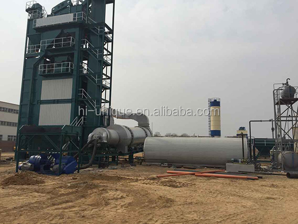 mobile asphalt mixing plant for road making project