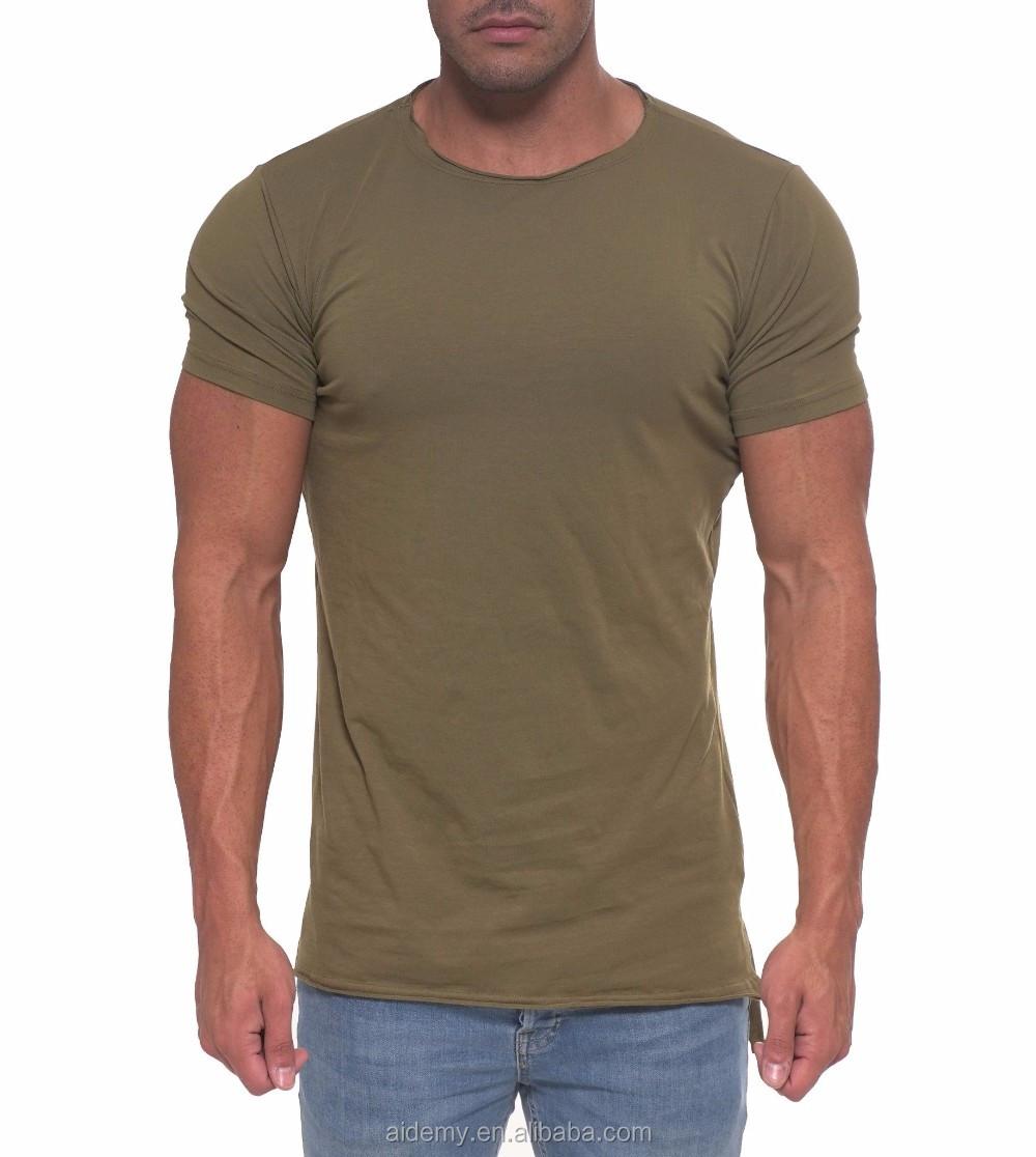 Wholesale Cotton T Shirts Bulk Blank Plain Men Fitted Fishtail