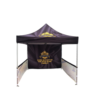 600D PU Face Cutout Wall Coating Oxford Fabric Advertising Canopy Promotional Folding Stall Tent For Sale