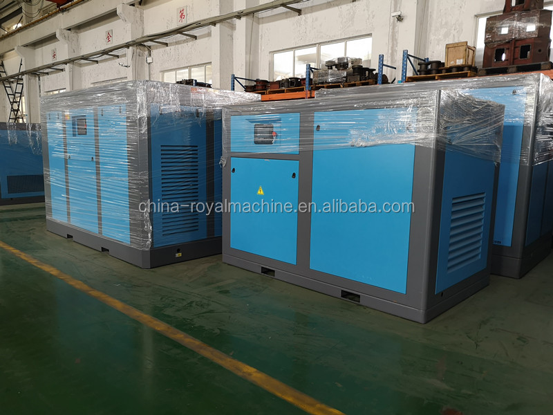 Wind Cooling Type Industrial Twin Rotary Screw Air Compressor