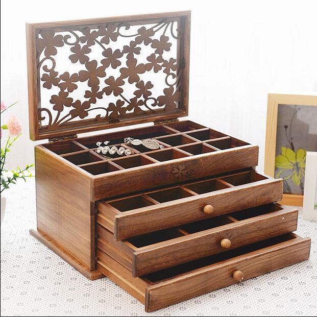 Luxury Custom Jewelry Box Set Multifunctional Jewellery Airtight