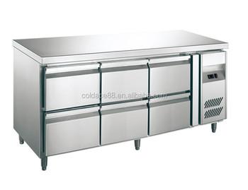 Kühlschrank Schublade : Kommerziellen 9 schublade arbeitsplatte kühlschrank chiller kühler
