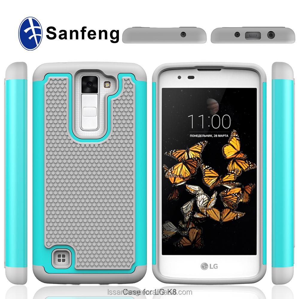 Por encargo android teléfono funda de silicona para LG K8 K350N