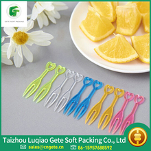 Good Price PS Colorful Disposable Plastic Fruit Fork