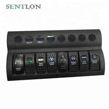 Car Part Waterproof 8 pcs/6 pcs/4pcs Car Marine Boat 12v LED Rocker Switch Circuit Panel Breaker