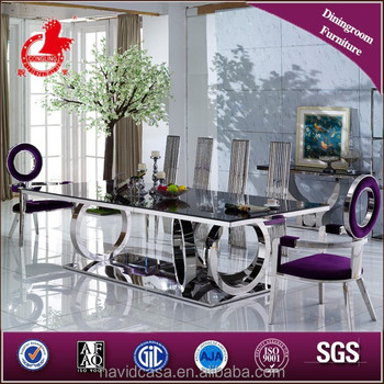 Latest Model A8068 Gl Top Metal Leg Dining Table Movable Chinese Style Product On