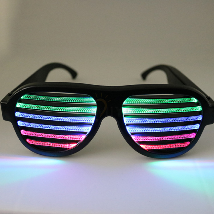 Colourful Neon Party LED Glasses Flashing Halloween Day Glasses,Party Flashing Led Sound Activated Light Sunglasses