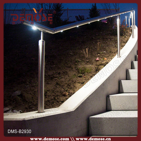 Outdoor Lighting Requirements: Led Light Handrails For Outdoor Steps/handrail For