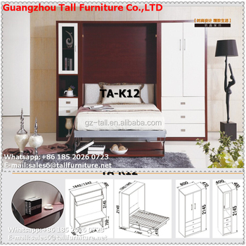 High Quality Space Saving Furniture Wall Bed Murphy Bed With